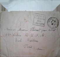 G 5 1939/45 Courrier école Militaire Paris En FM - Correo Naval