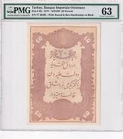 Turkey Ottoman Empire 20 Kurush 1877 UNC Mehmed Kani - Turkey
