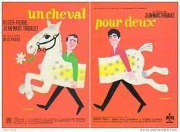 2 Cartes Postales Puzzle : Un Cheval Pour Deux (Roger Pierre Et Jean-Marc Thibault) Ill Léo Kouper (film Cinéma Affiche) - Posters On Cards