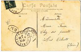 HAUTE SAVOIE CP 1909 MARIGNIER BM = BOITE MOBILE SUR CP ST JEOIRE - 1877-1920: Semi Modern Period
