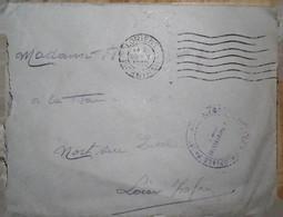 G 5 1939/45 Courrier+ Lettre En FM  11e R.A.C à Lorient - Guerra De 1939-45