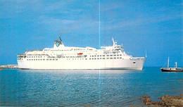 """Cpsm Bateau Paquebot """" Esterel  """"    S.N.C.M Corse 1980 Nantes - Ferries"""