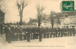 010521 - 45 Sapeurs Pompiers D' HUISSEAU SUR MAUVES - La Revue - Ste Barbe 1909 - Tambour Casque Pompier Secours - Other Municipalities