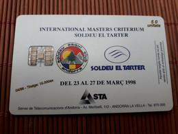 Phonecard Andorra Used Only 15.000 Ex Made Rare ! - Andorra