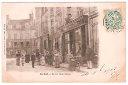 CORBEIL.LA RUE NOTRE-DAME.(ANIMEE CARTE PAS COURANTE) - Corbeil Essonnes