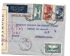 Lib002 / LIBANON - Beyrouth 26.4.45, Zensiert Nach Puteaux, Frankreich - Covers & Documents