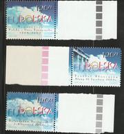 H 313) Polen 2003 Mi 4016, 4049, 4051 **: Polens Weg In Die EU, Europäische Union - Europese Gedachte