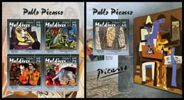 MALDIVES 2019 - Pablo Picasso - YT 6819-22 + BF1316 [MLD190307] - Picasso