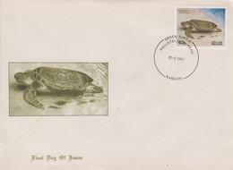 Enveloppe  FDC  1er  Jour   PAKISTAN   Tortue  Marine    1981 - Turtles