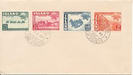Iceland FDC 9-10-1949 Complete Set UPU - FDC
