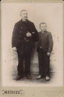 CABINET - Portrait D'un Grand-père (Italien) Et Son Petit-fils Par Mathieu à Marseille - Old (before 1900)