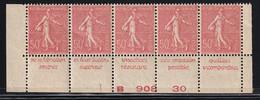 Publicité - YT 199e Semeuse 50c Type IIB - Bande De 5 Inférieure Phenix Texte Complet BdF (Maury : BP 99a) Neuf** - Werbung