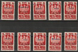 H 305) Polen 1945 Mi 390 I-X **: Befreiung Polnischer Städte, Name Und Befreiungsdatum - Unused Stamps