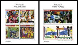MOZAMBIQUE 2019 - P. Picasso - YT 8283-6 + BF1398 [MOZ190202] - Picasso