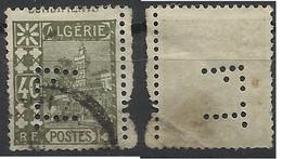 Colonie ALGERIE N° 45 FT20 Indice 6 Perforé Perforés Perfins Perfin - Altri