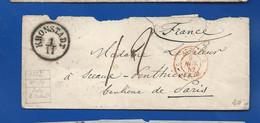 Enveloppe De KRONSTADT   A Destination De Paris  Du 9 Nov 1852   Taxé - Sonstige