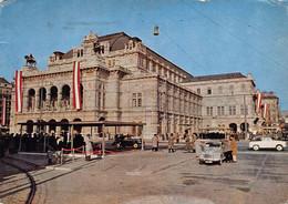 """12351 """" WIEN-STAATSOPER """" ANIMATA-FIAT TOPOLINO-VERA FOTO-CART. SPED.1954 - Non Classificati"""