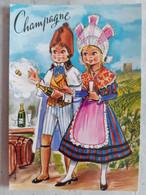 CPSM CHAMPAGNE N° 177/2 Dessin De DUFOURT COUPLE COSTUME REGIONAL FANTAISIE - Couples