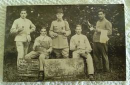 CPA CARTE PHOTO MILITAIRE AUXONNE Souvenir Du Mess Des Sous Officiers Du 1er RAD Régiment D'Artillerie Divisionnaire - Auxonne
