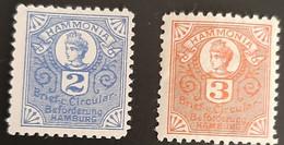 Germany Stadtpost/Privatpost Hamburg 2 & 3 Pfg 1895 Michel 49/50 Unused - Sin Clasificación