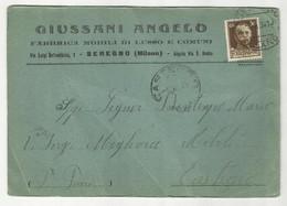 CARTOLINA COMMERCIALE GIUSSANI ANGELO FABBRICA MOBILI DI LUSSO E COMUNI SEREGNO (MILANO) 1934 - Autres