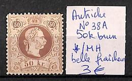 [815963]B/TB//*/Mh-Autriche  - N° 38A, 50k Brun, Belle Fraîcheur - Altri
