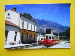 Photo TRAMWAY CORSE  , Collection Bourneuf ,lire Descriptif  , Gare De Corte - Trains