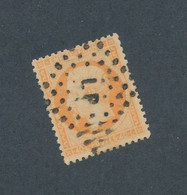 FRANCE - N° 23 OBLITERE AMBULANT LP - 1862 - COTE : 15€ - 1862 Napoleon III