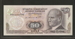 Turquie, 50 Turkish Lira, 1970 Issue - Turkey