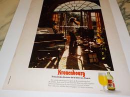 ANCIENNE  PUBLICITE 3 SIECLES D AMOUR  BIERE  KRONENBOURG 1974 - Alcools
