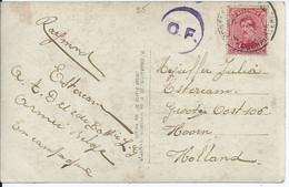 Fantasiekaart Met OCB 138 - Afstempeling LEGERPOSTERIJ 4 En Censuur Folkestone - 1915-1920 Albert I.