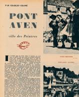 1954 : Document, PONT-AVEN, Le Port, Moulins, Atelier De Gauguin, Noce Et Danse Bretonne, Kerdruc, Gardien De Porcs - Unclassified