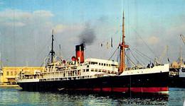 """Cpsm  Bateau """" Ville D'Ajaccio """" Compagnie Générale Transatlantique - Ferries"""