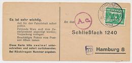 Dordrecht - Hamburg Duitsland 1943 - Liebesgabenpaket - Non Classificati