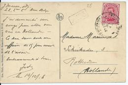 Zichtkaart Gent Met OCB 138 - Afstempeling LEGERPOSTERIJ 4 - 1915-1920 Albert I.