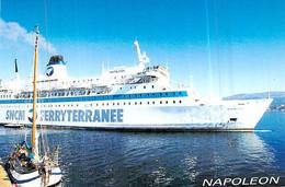 """Cpsm  Bateau """" Napoléon  """" S N C M Corse - Ferries"""