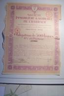 SOCIETE IMMOBILIERE & AGRICOLE DE  L'HARRACH  - ALGER - OBLIGATION De 500 Francs ( 1923 ) - Non Classificati