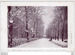 NERIS LES BAINS VUE DE LA PROMENADE DU PARC DE NERIS UN JOUR DE NEIGE HIVER 1905 1906 TBE - Neris Les Bains