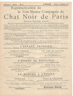 Programme De Tournée Pour 1895 , Compagnie Du CHAT NOIR DE PARIS, 2 Scans ,frais Fr 1.65 E - Programs