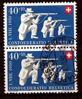 """HELVETIA - Mi Nr 540 (paar/paire) - Stempel """"RAPPERSWIL"""" - (ref. 3242) - Oblitérés"""