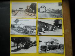 Photo TRAMWAY CHARENTE Matitime  , Collection Bourneuf ,lire Descriptif  ,6 Retirage Gare - Trenes