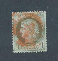 FRANCE - N° 50 OBLITERE AVEC CAD ROUGE - 1872 - COTE : 25€ - 1871-1875 Cérès
