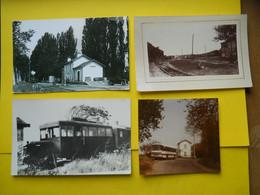 Photo TRAMWAY CHARENTE Matitime  , Collection Bourneuf ,lire Descriptif  ,Saintes , Autorail De Dion à L'île De Ré - Treni