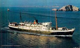 """Cpsm Bateau """"Sampiero Corso """"   Compagnie Générale Transatlantique CGT 1936 Port De Bouc - Ferries"""