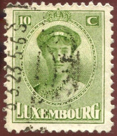 Pays : 286,04 (Luxembourg)  Yvert Et Tellier N° :   122 (o) - 1921-27 Charlotte Frontansicht