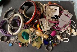 Lot Sierjuwelen - Armbanden, Ringen, Oorringen, Kettingen..... - Unclassified