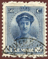 Pays : 286,04 (Luxembourg)  Yvert Et Tellier N° :   129 (o) - 1921-27 Charlotte Frontansicht