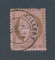 FRANCE - N° 54 OBLITERE AVEC CAD LILLERS DU 31 DECEMBRE 1875 - COTE : 15€ - 1871-1875 Cérès