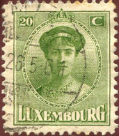 Pays : 286,04 (Luxembourg)  Yvert Et Tellier N° :   154 (o) - 1921-27 Charlotte Frontansicht