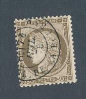 FRANCE - N° 56 OBLITERE AVEC CAD PARIS PLACE DE LA BOURSE DU 24 JUILLET 1876 - 1871-1875 Cérès